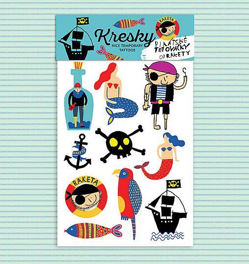 Tetovačky Kresky - Pirátské od Rakety