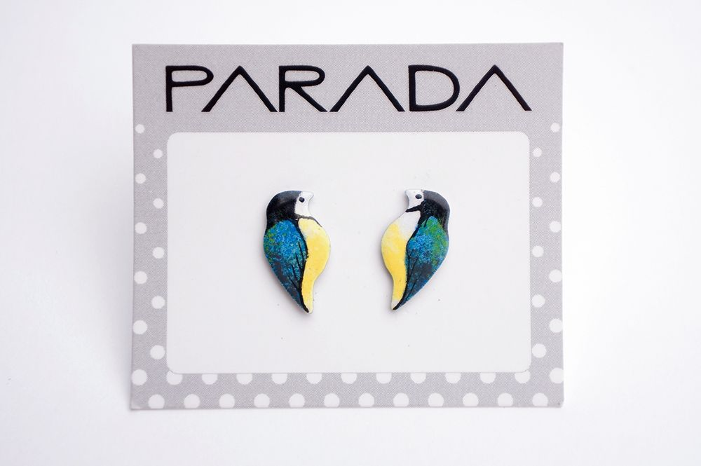 Náušnice Parada - sýkorky