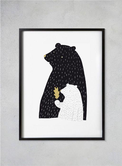 Tisk Z lesa - Medvěd a medvídě A4