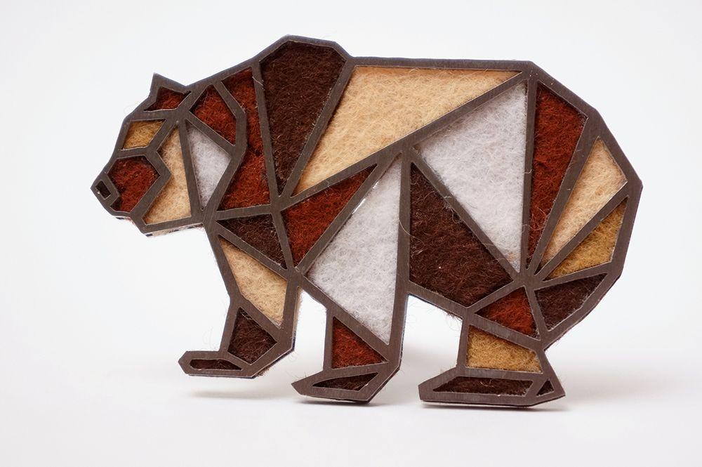 Brož Intimity - medvěd
