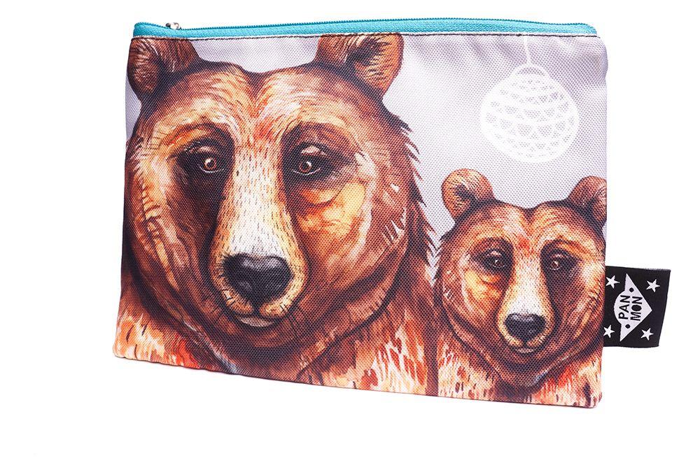 Velká kapsička Hey Wolf - Medvěd