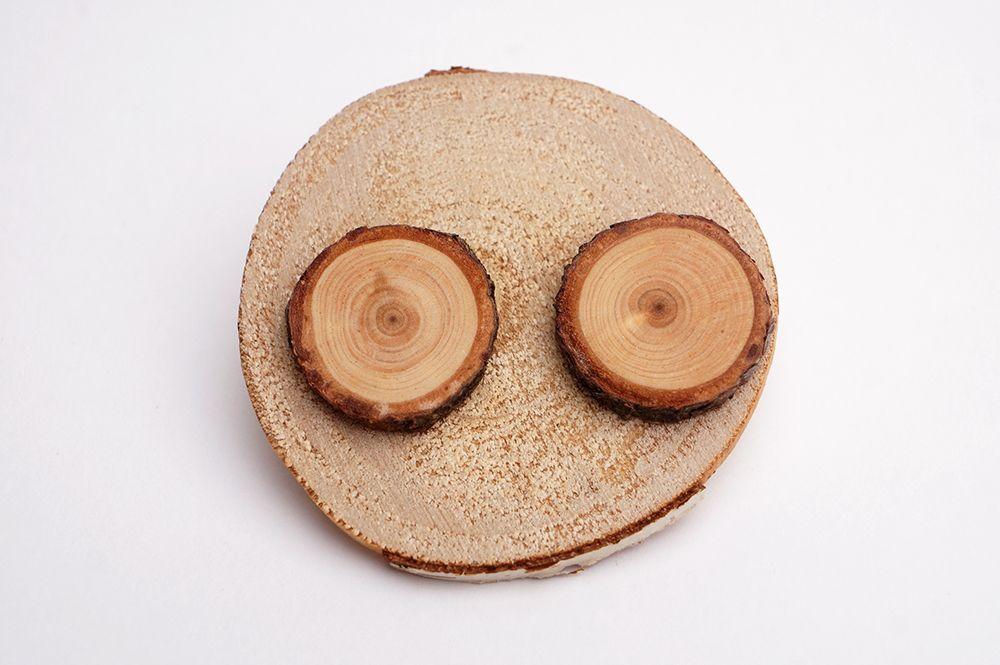 Náušnice Dřevohra - kruhy větší