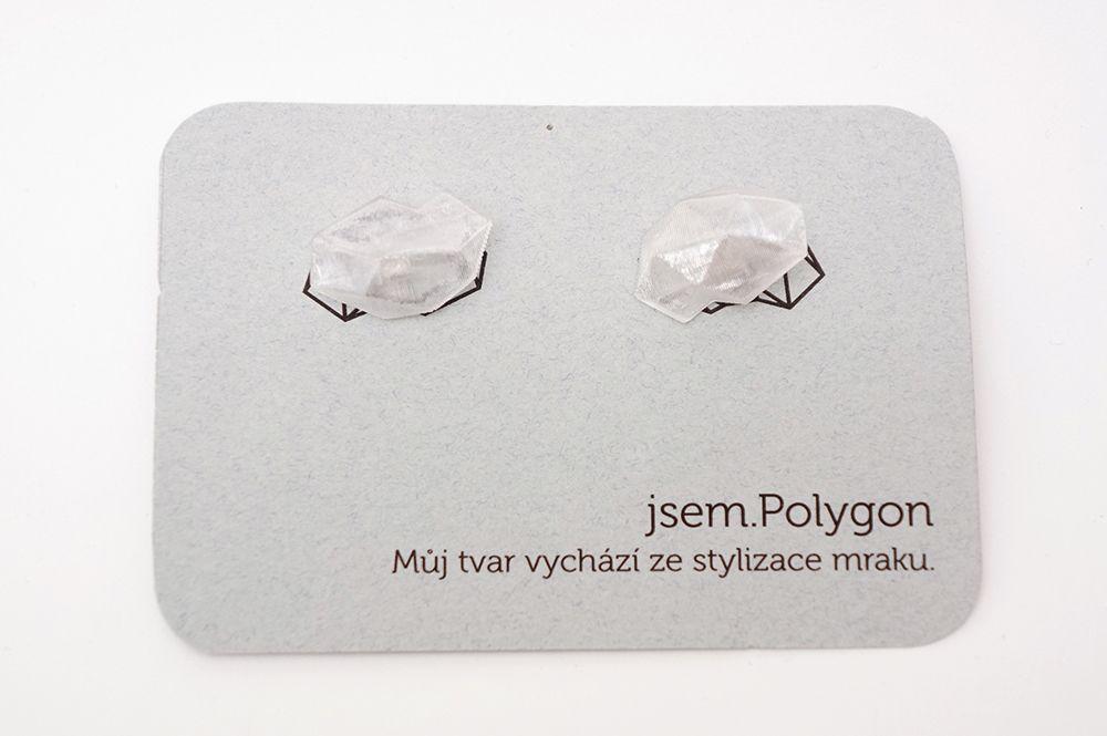 Náušnice Jsem studio - Polygon