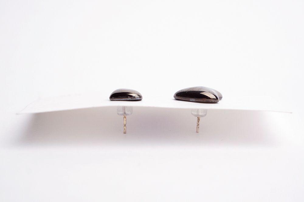 Náušnice MH - platinové kaňky