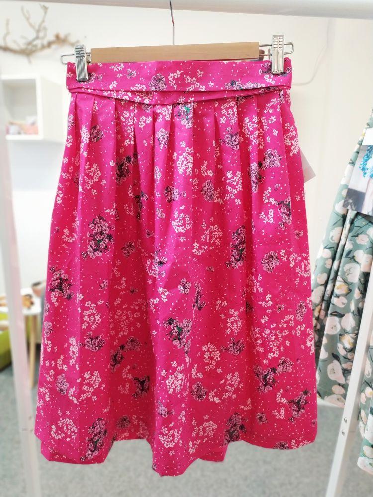 Zavinovací sukně Reparáda - KVĚTY NA RŮŽOVÉ