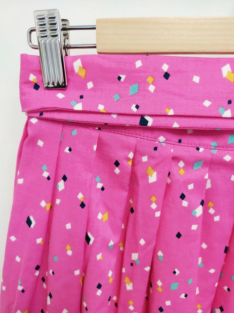 Zavinovací sukně Reparáda - RŮŽOVÁ S KOSTKAMI
