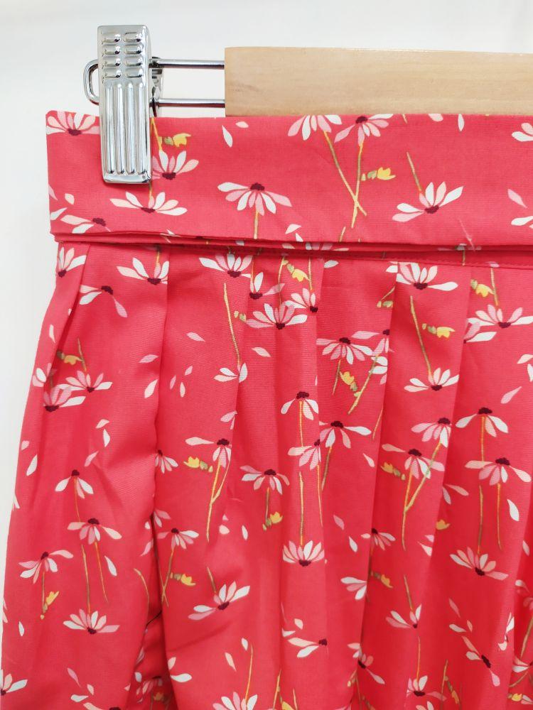 Zavinovací sukně Reparáda -RŮŽOVÁ S KOPRETINAMI