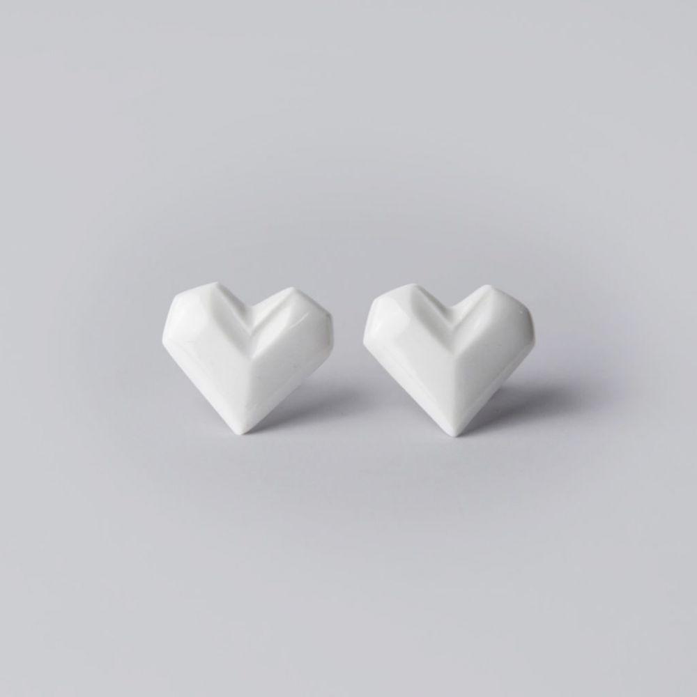 Náušnice Stehlík Design - srdce
