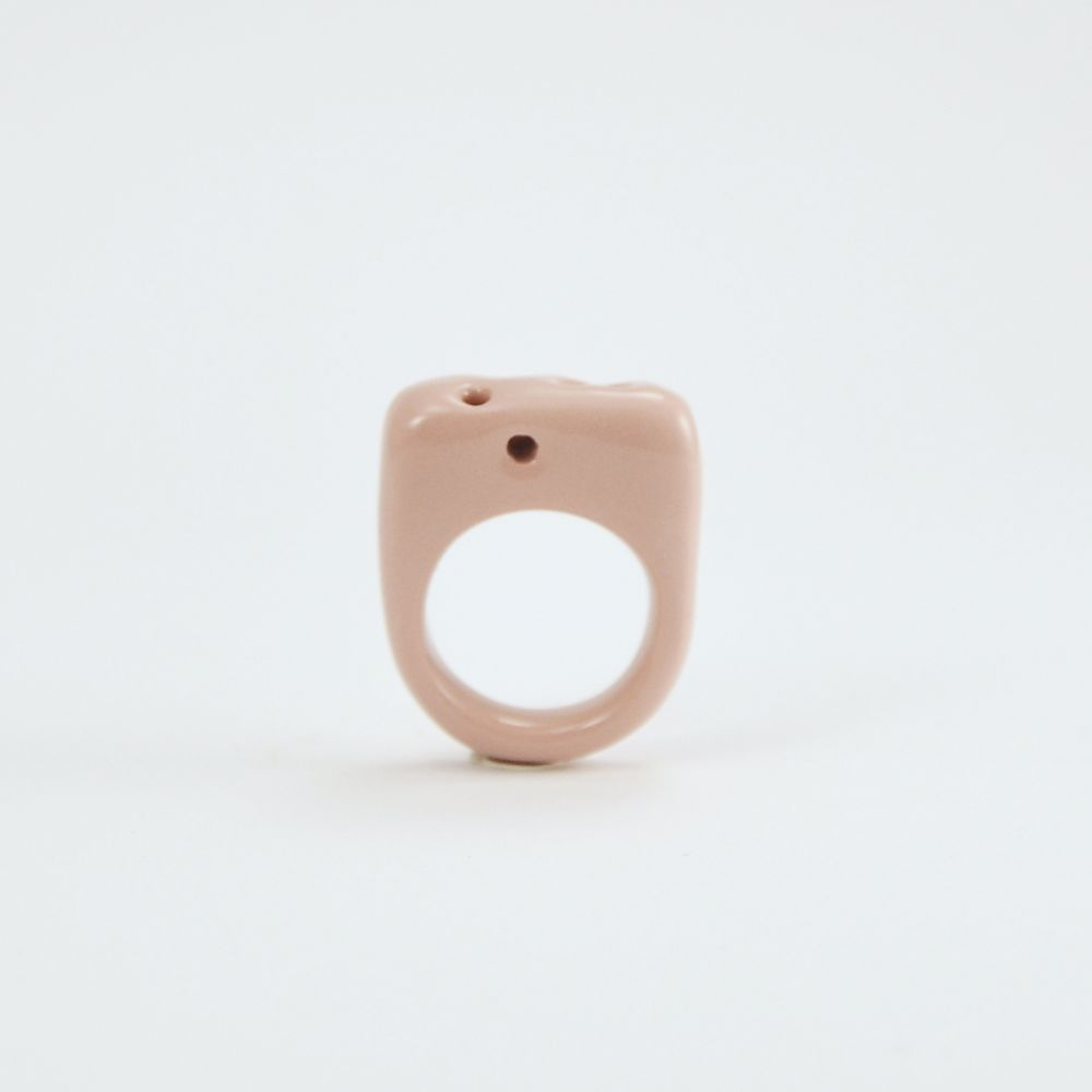 Prsten MH - růžový se srdcem