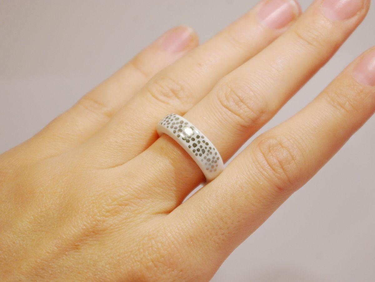 Prsten MH - zlaté tečky