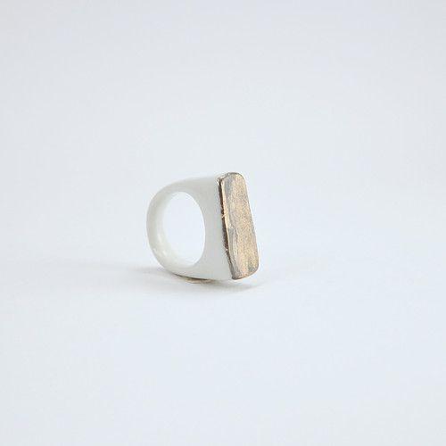 Prsten MH - matné zlato