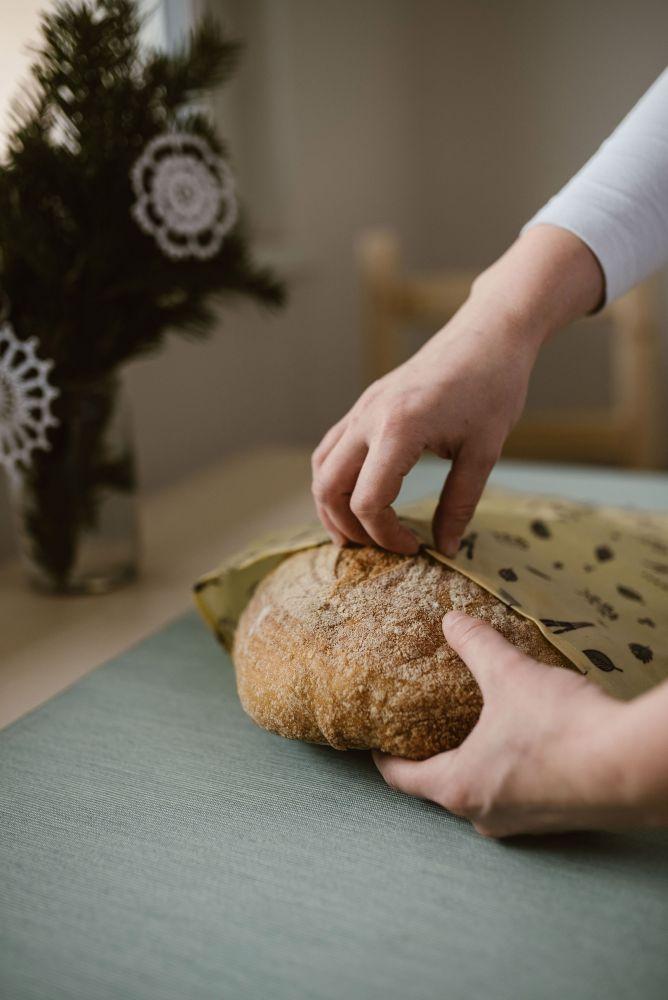 Voskovaný včelovak Včelobal - střední chléb