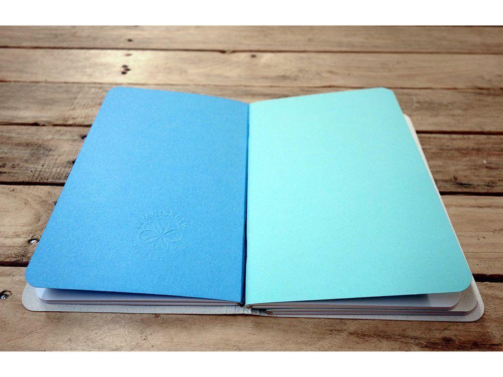 Kreativní deník Lemniskáta - velký RUČNÍ PAPÍR