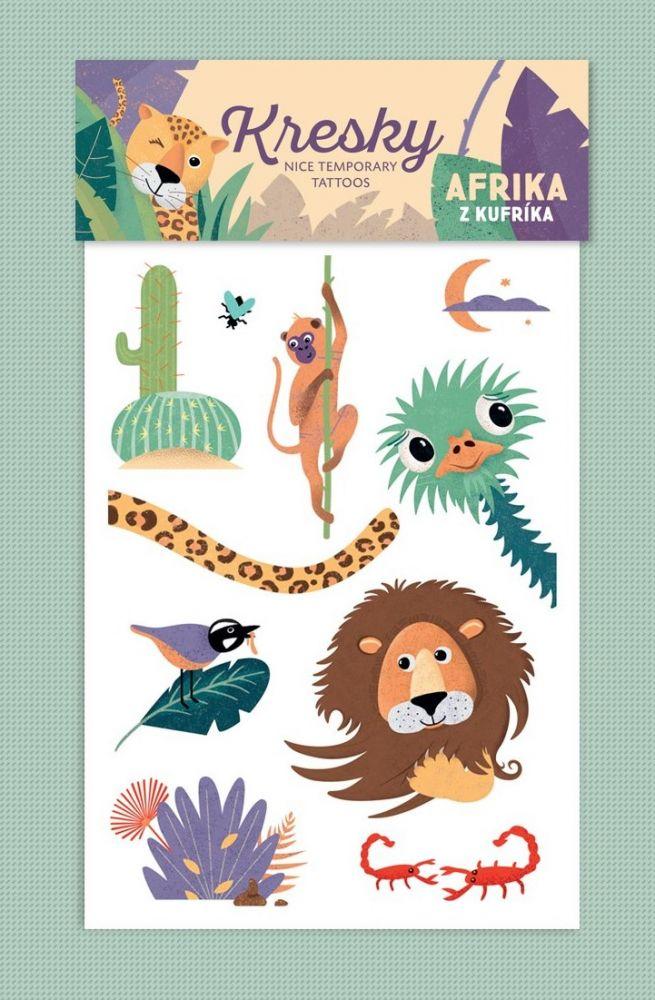 Tetovačky Kresky - Afrika z kufříku