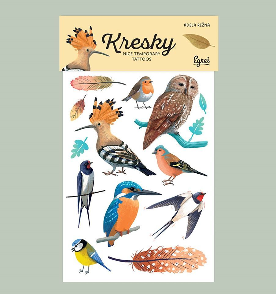 Tetovačky Kresky - Ptačí