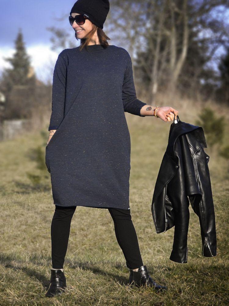 Šaty Adelaube - WINT, tm. modrá