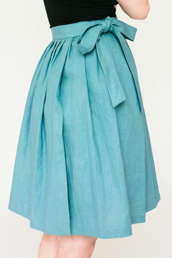 Zavinovací sukně Reparáda - MODRÁ