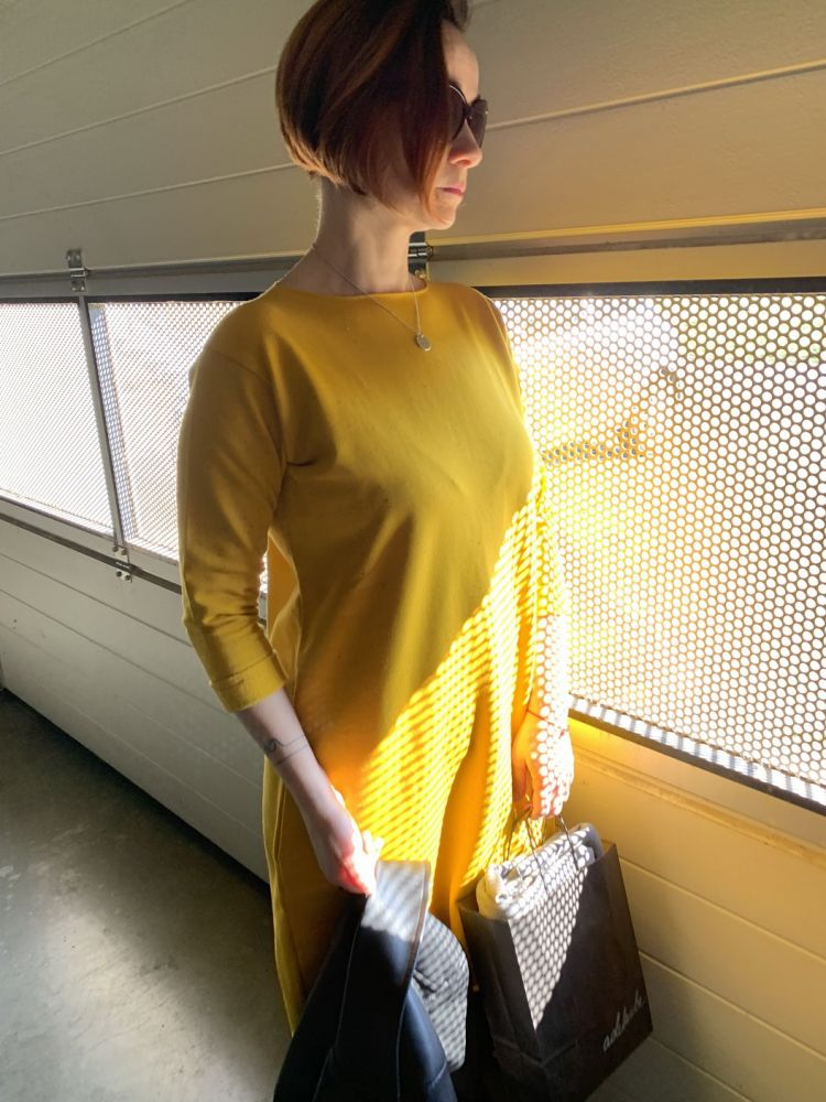 Šaty Adelaube - LEAF, žlutá
