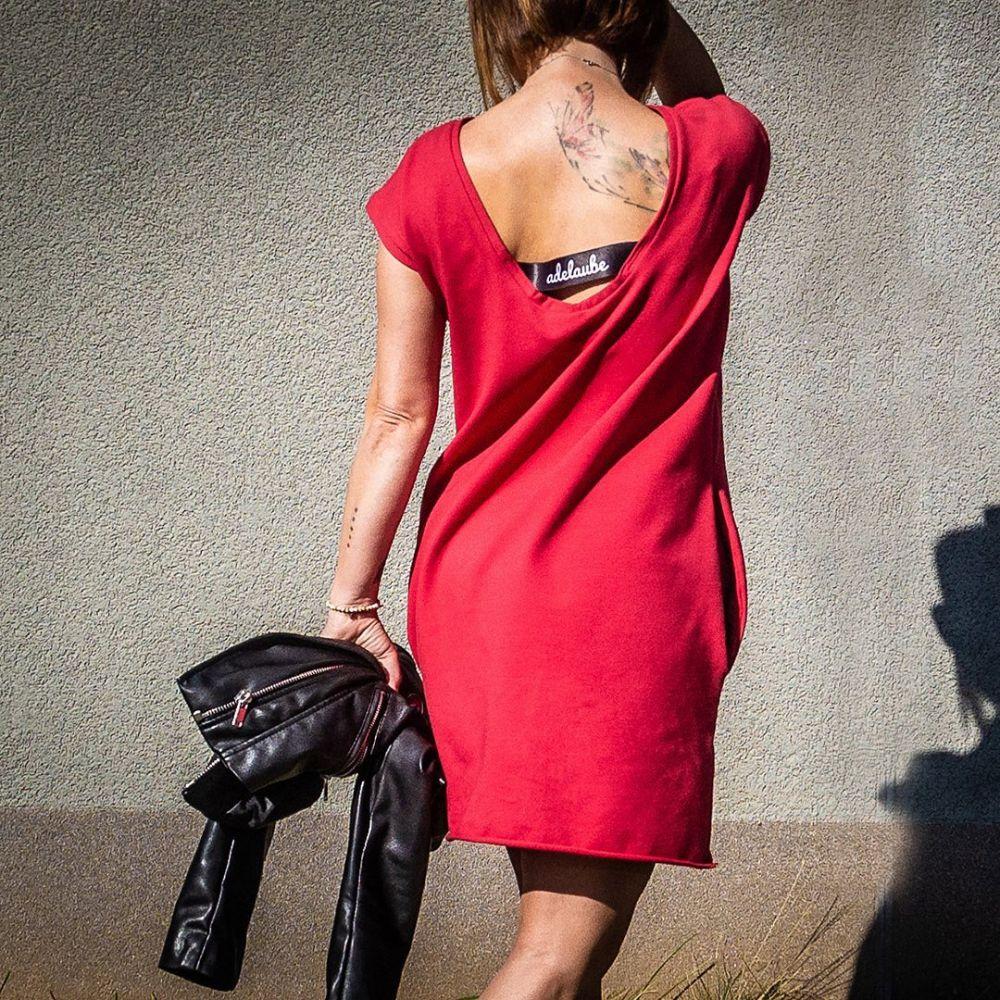 Šaty Adelaube - SHINE, červená