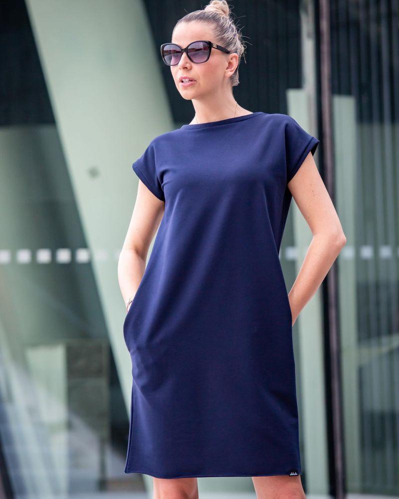 Šaty Adelaube - SHINE, tm. modrá