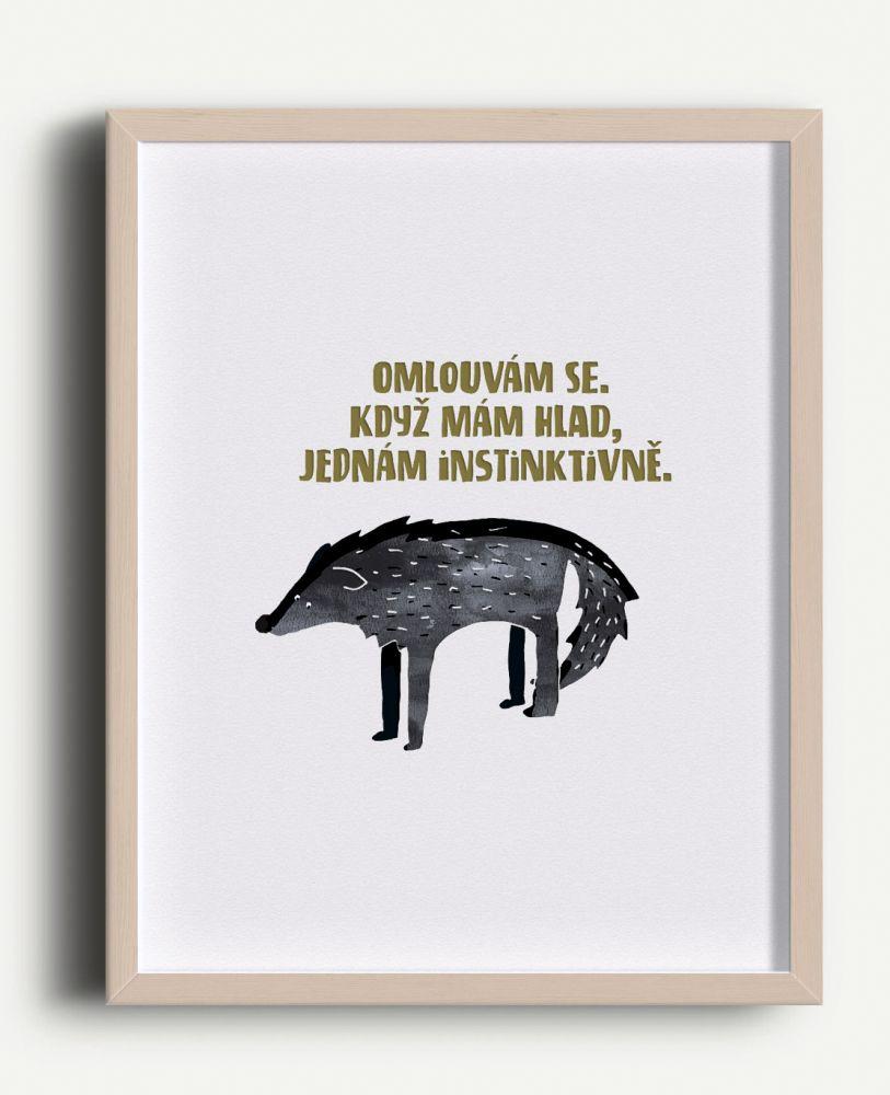 Tisk Z lesa - Vlčí hlad A4