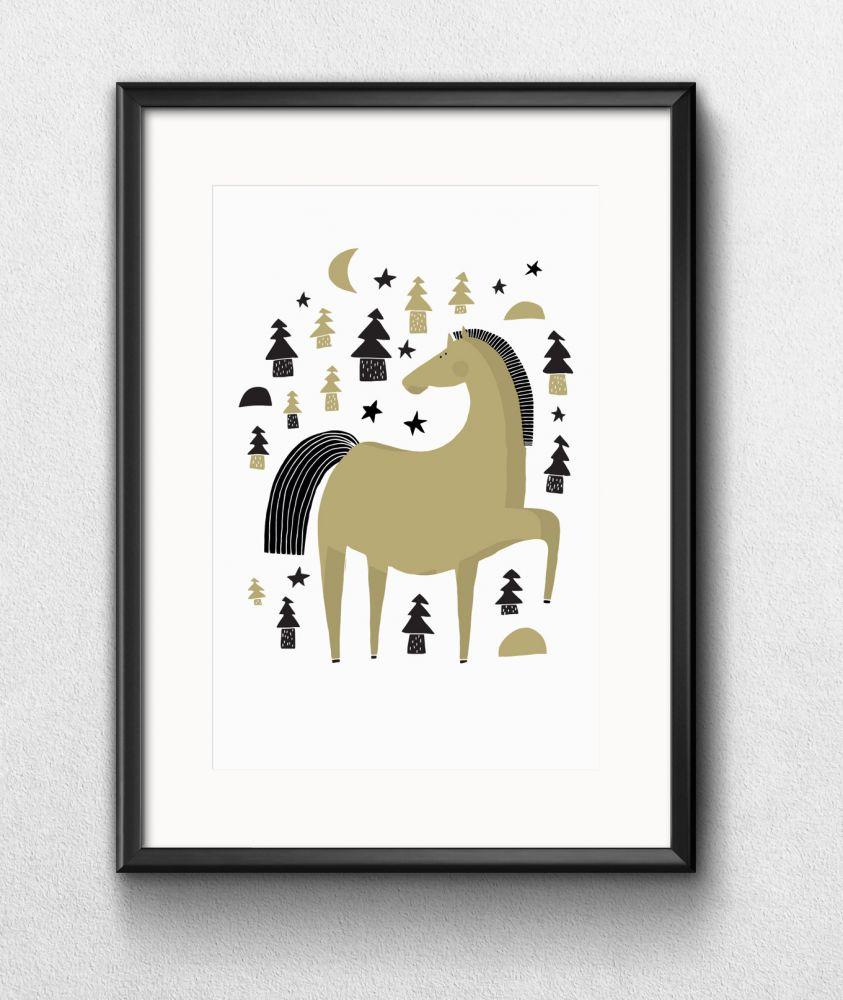 Tisk Z lesa - Koník