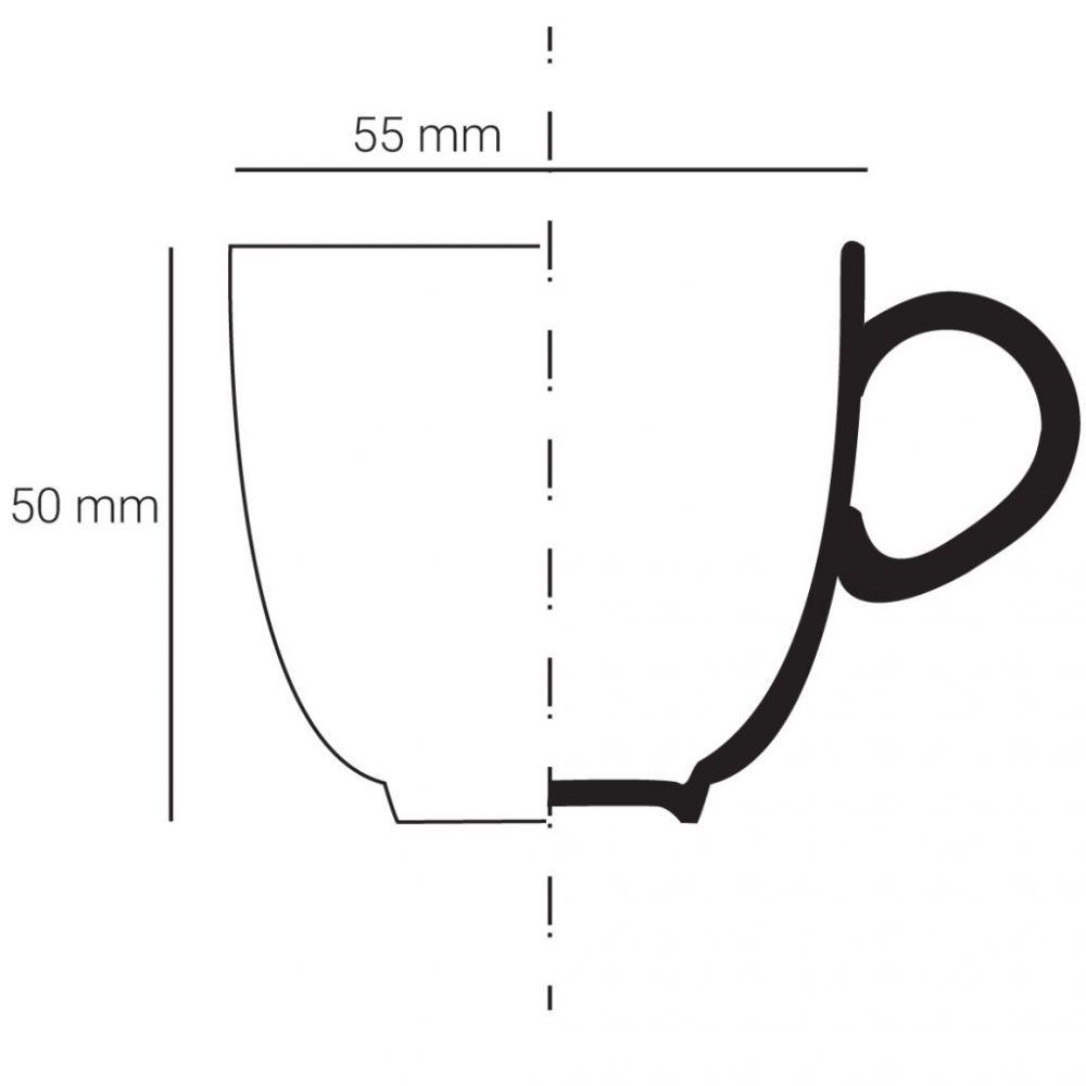 Pohárek Espresso Křak - Černá závojnatka