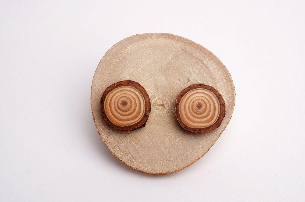 Náušnice Dřevohra - kruhy menší