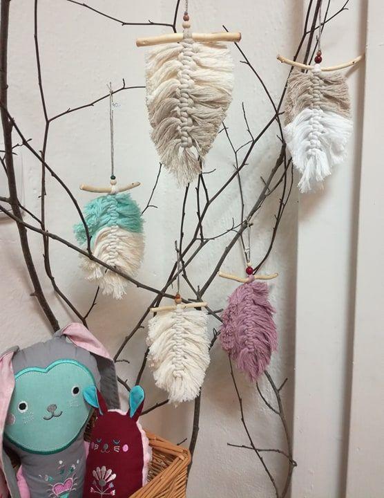 Kreativní sada 3ks - Drhané pírko Hlava plná nití - jednobarevné