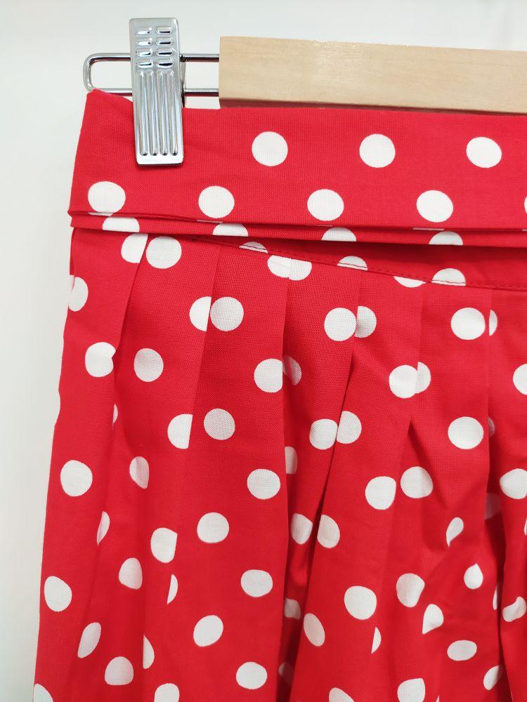 Zavinovací sukně Reparáda - ČERVENÁ S PUNTÍKY