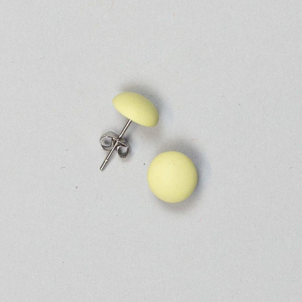 Náušnice Stehlík Design - pecky - žluté