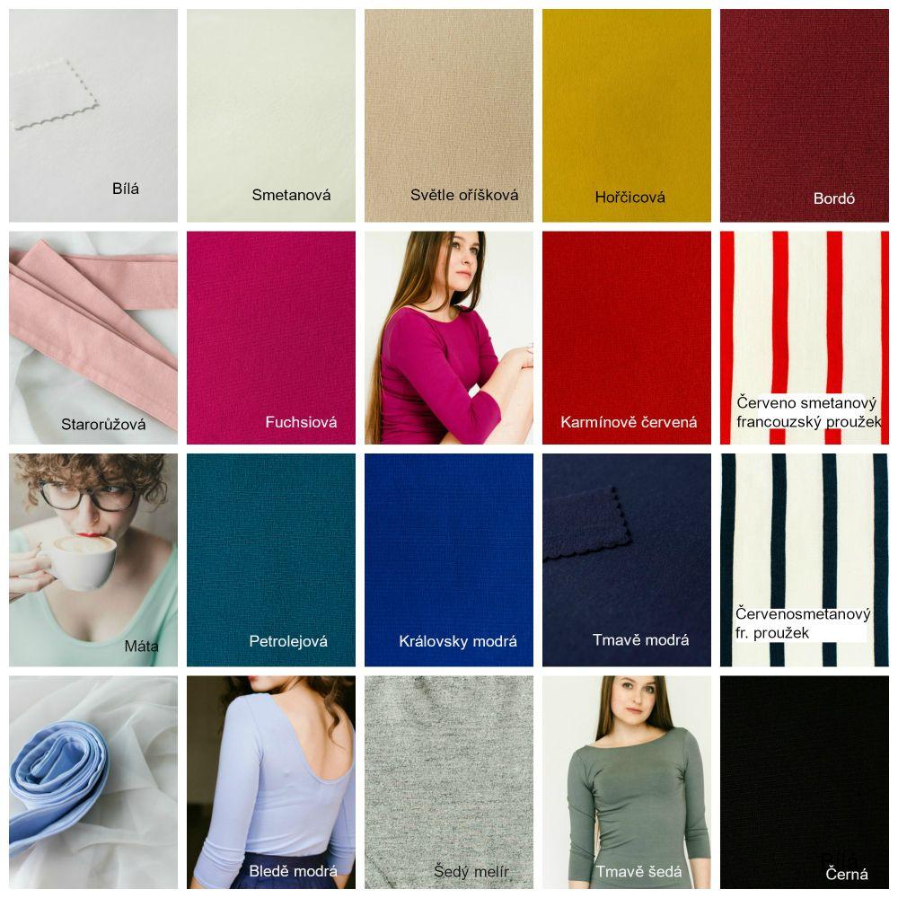 Tričko Reparáda - různé barvy - Dorothea 3/4 rukáv