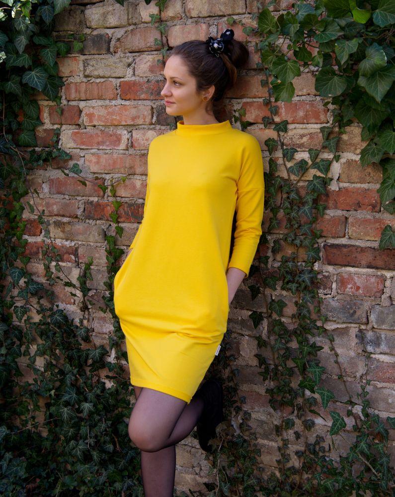 Šaty Nämakko - žluté šaty