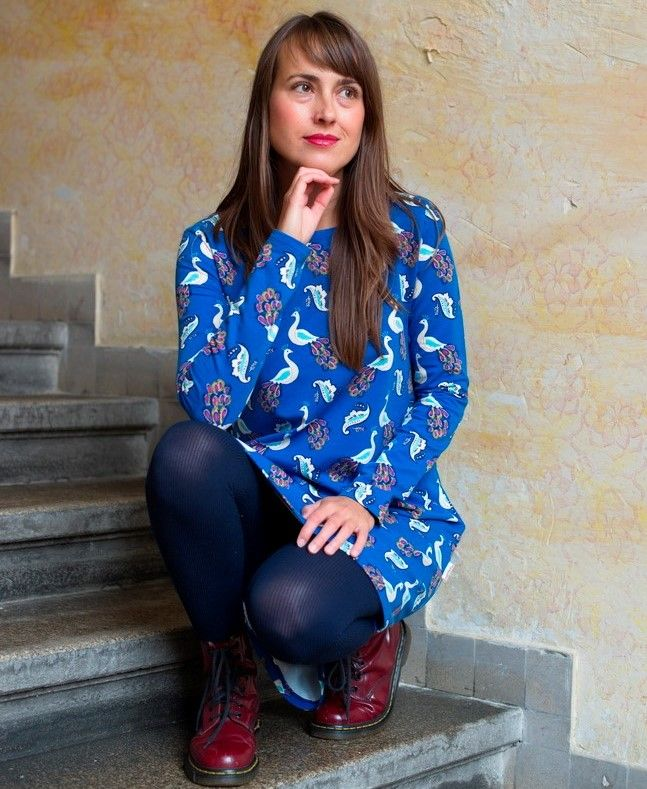 Šaty Nämakko - pávi modré