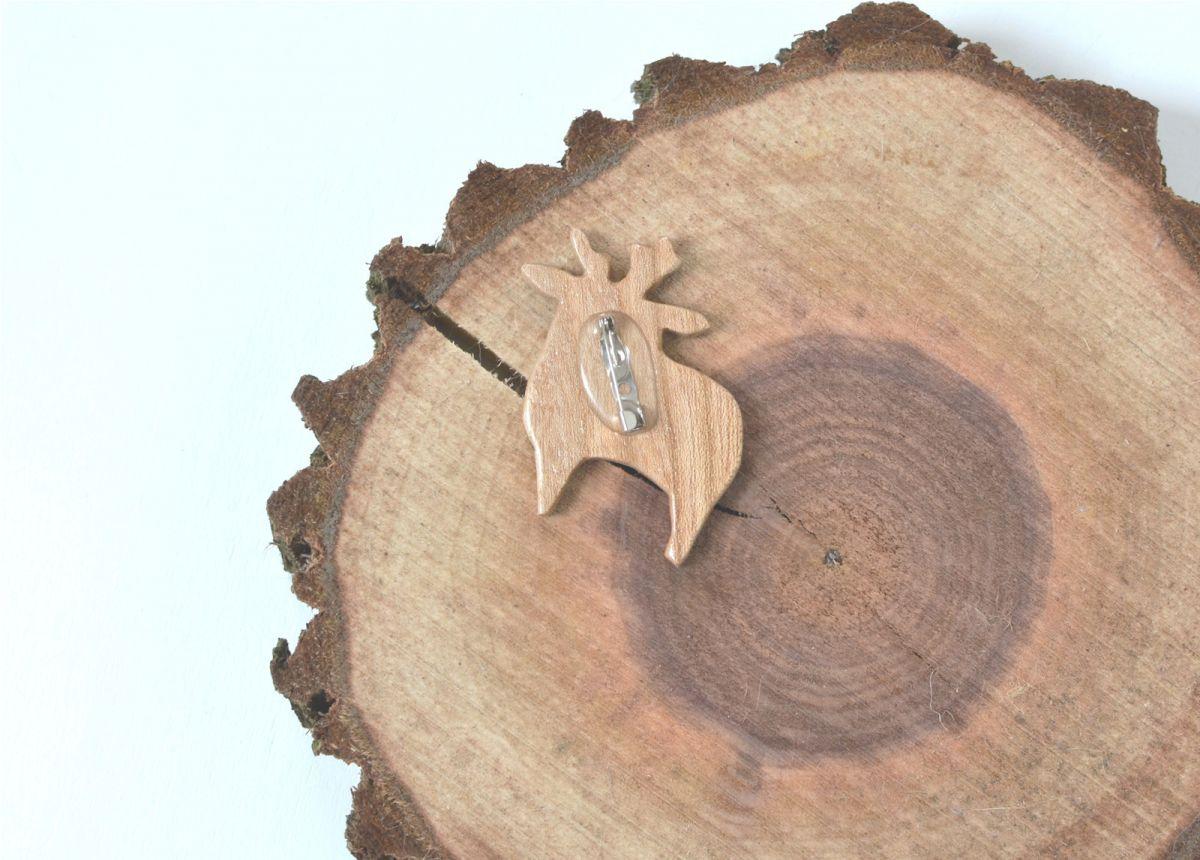 Brož The little story - dřevěný jelen