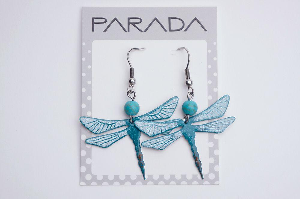 Náušnice Parada - vážky