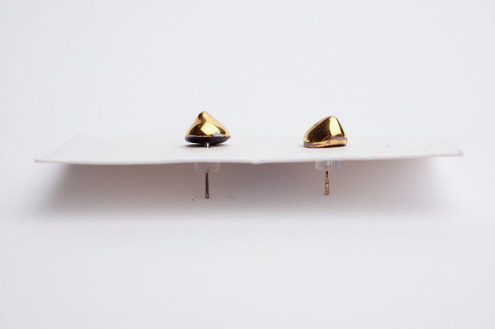 Náušnice MH - Zlaté kapky mini