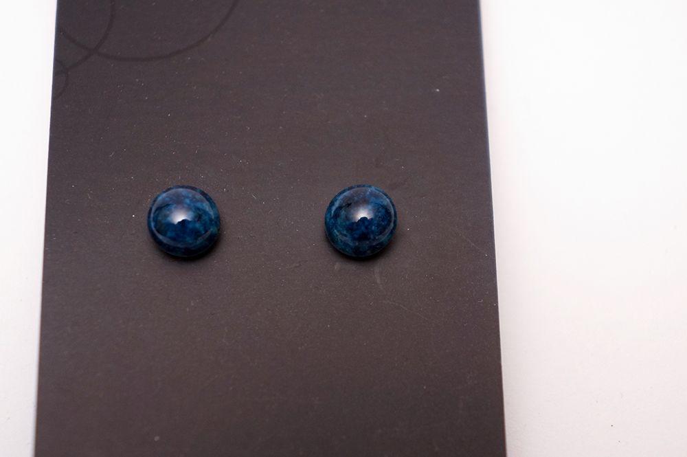 Náušnice Zkeramiky - modré kruhy