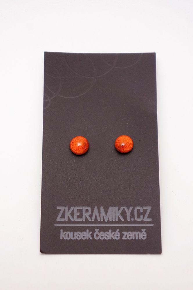 Náušnice Zkeramiky - oranžové kruhy