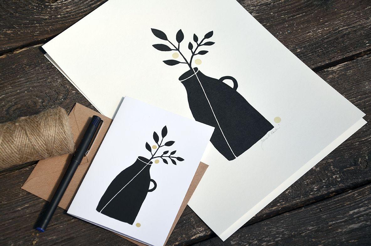 Přání Z lesa - Váza s květinou