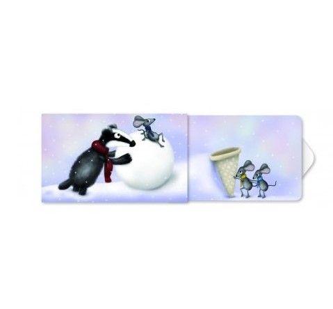 Žvýkačky Charity gums - Jezevec v zimě