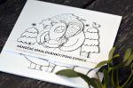 Přání Z lesa - Adventní pohlednice - omalovánky (sada 6ks)
